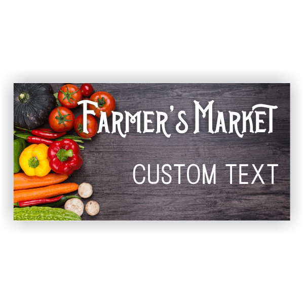Farmers Market Banner Custom Signs