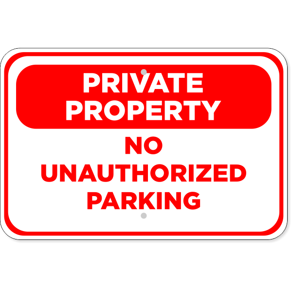 "No Parking Private Property Aluminum Sign | 12"" x 18"""