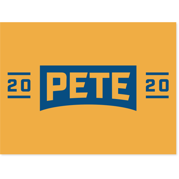 "Pete Buttigieg Presidental Campaign Yard Sign | 18"" x 24"""
