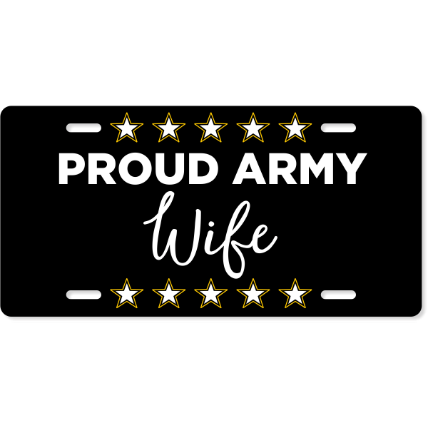 Proud Military Custom License Plate