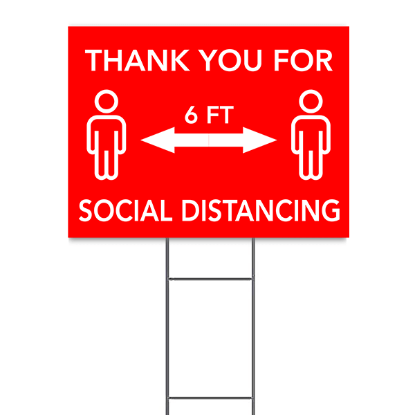 "Thank You For Social Distancing Yard Sign | 18"" x 24"""