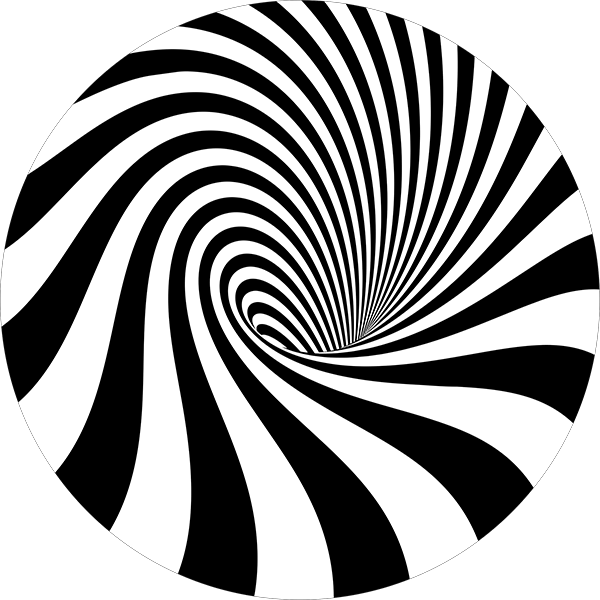 Straight Lines Curved Vortex Floor Decal