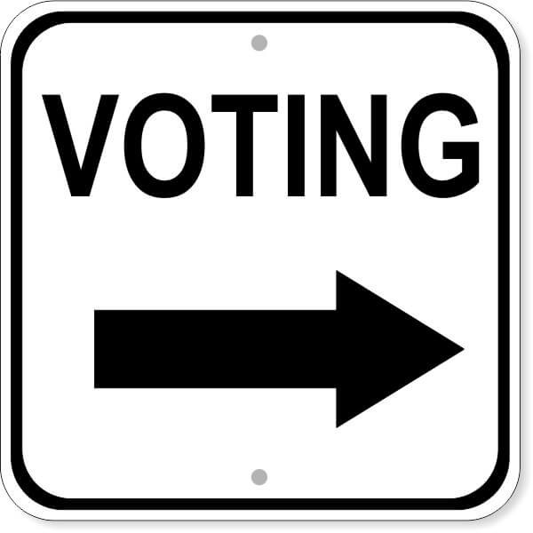 Voting Right Arrow Sign