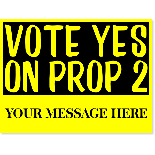 """Yellow Vote Yes Yard Sign   18"""" x 24"""""""