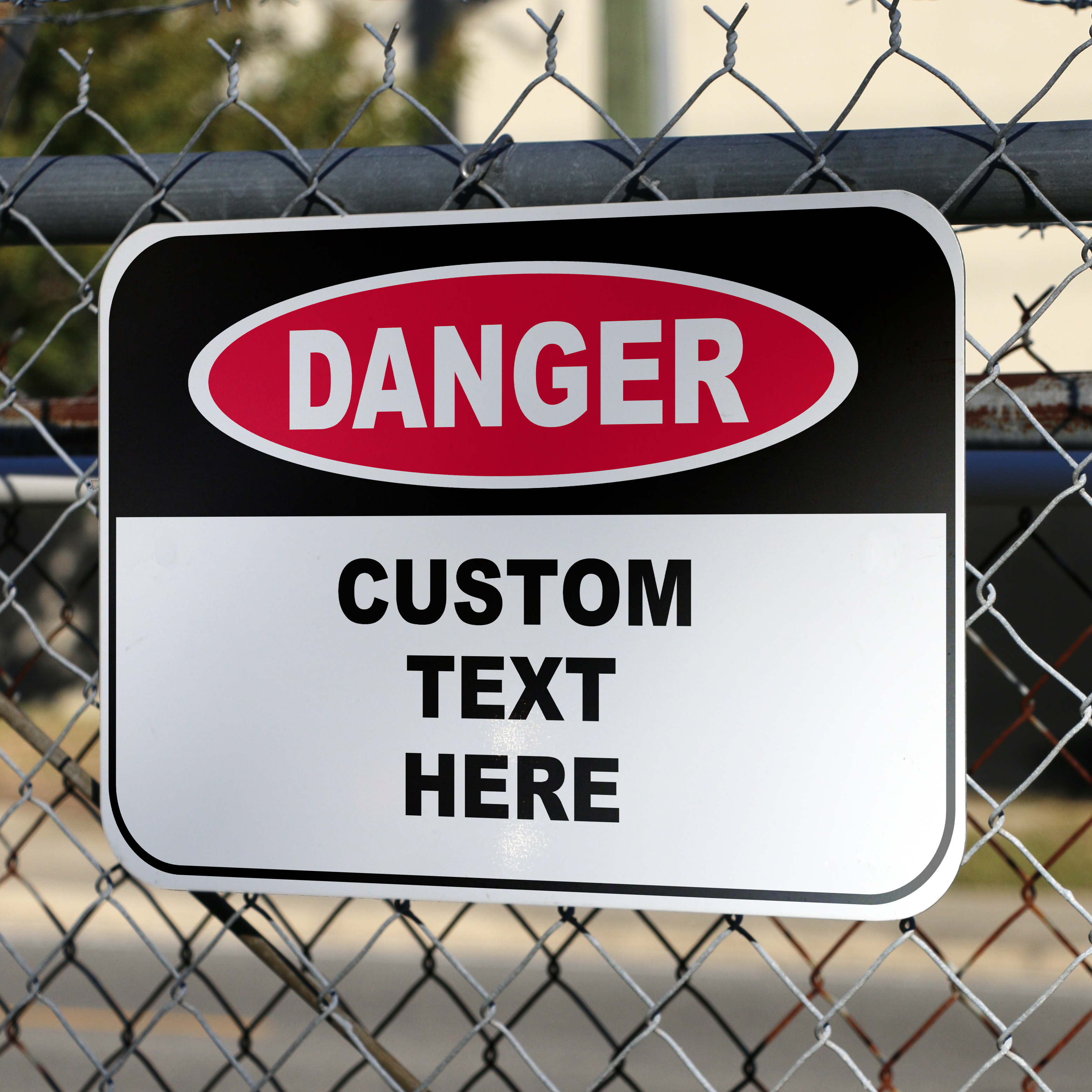 Custom Aluminum Danger Sign - 12