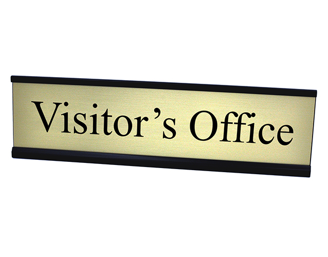 Visitors Office Gold Plate