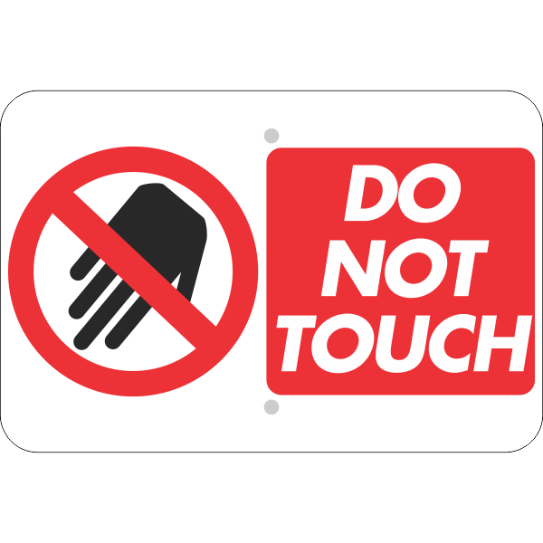 Horizontal Large Icon Do Not Touch Sign