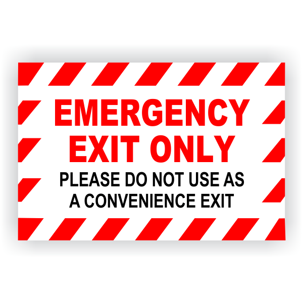 Emergency Exit Only Vinyl Decal