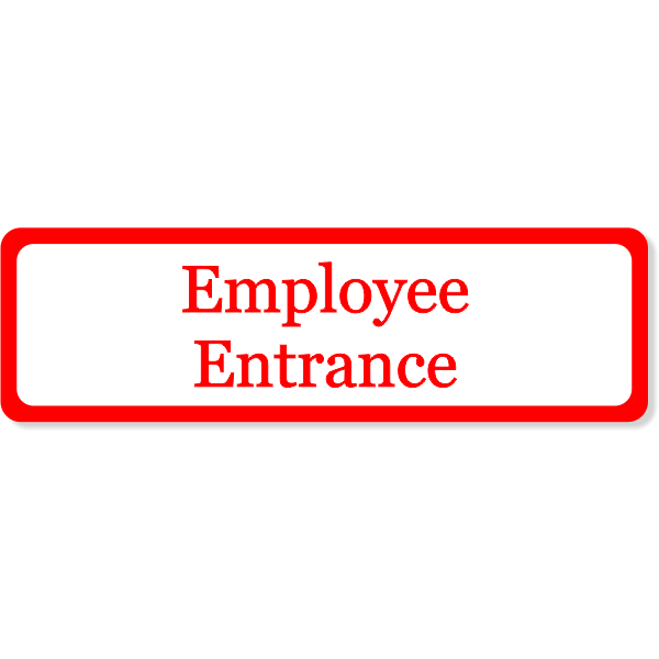Employee Entrance Decal | 3