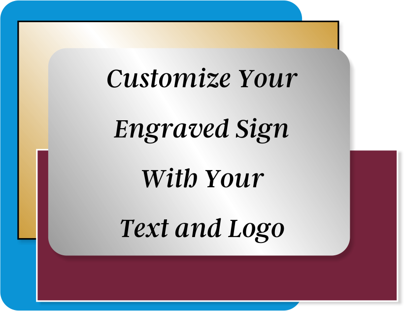 Engraved Sign Horizontal 2 in x 8 in