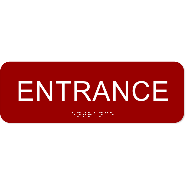 Entrance ADA Sign