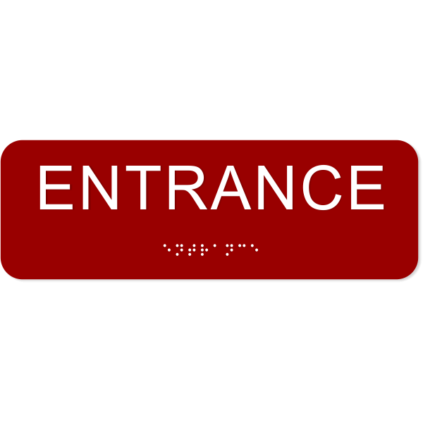Entrance ADA Sign with Braille - 2