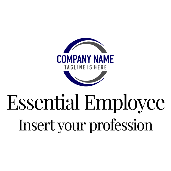 """Essential Employee With Logo Decal 