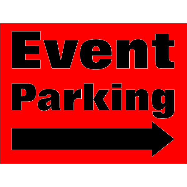 Event Parking Arrows Sign