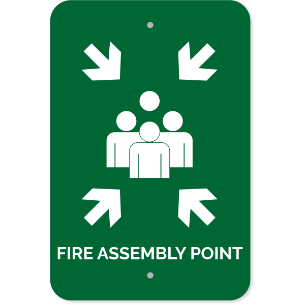 """Fire Assembly Point Aluminum Sign 