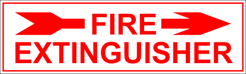 Fire Extinguisher Right Arrow
