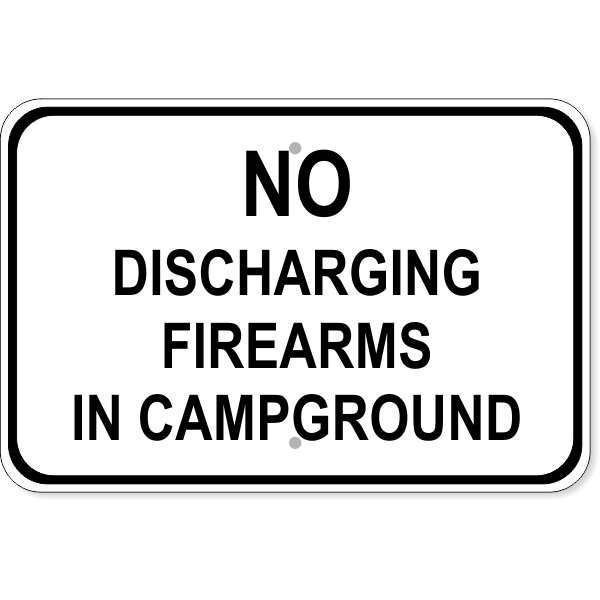 """Firearms Campground Aluminum Sign 