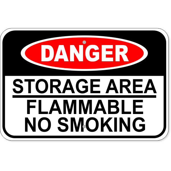 "Flammable Storage Aluminum Sign | 12"" x 18"""