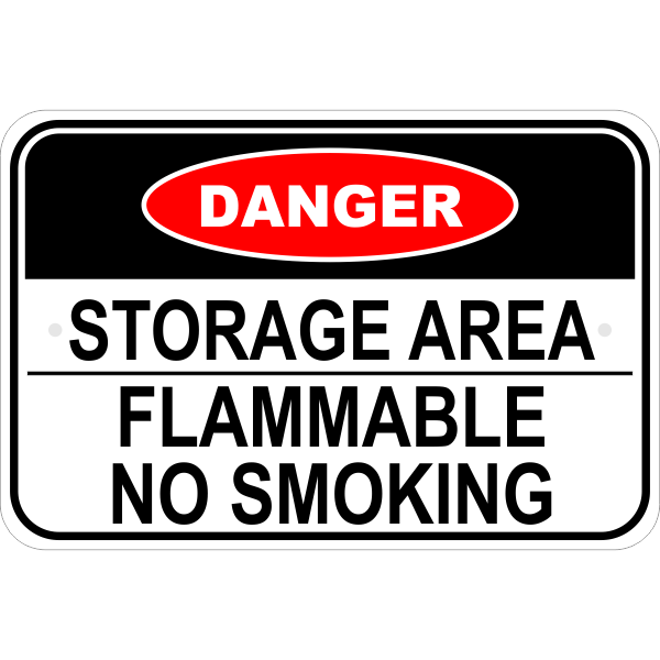 Flammable Storage Sign