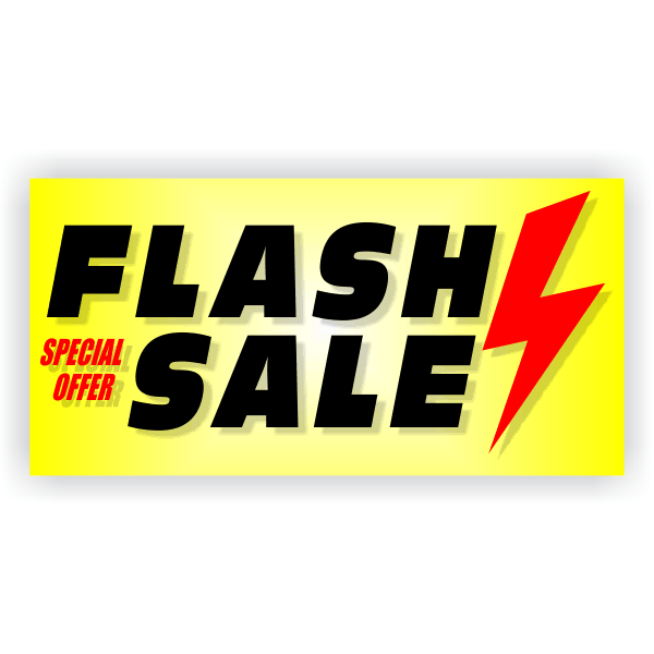 Flash Sale Banner - 2' x 4'