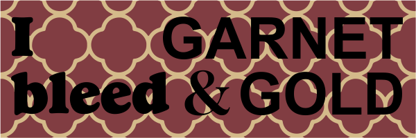 Garnet & Gold Bumper Sticker