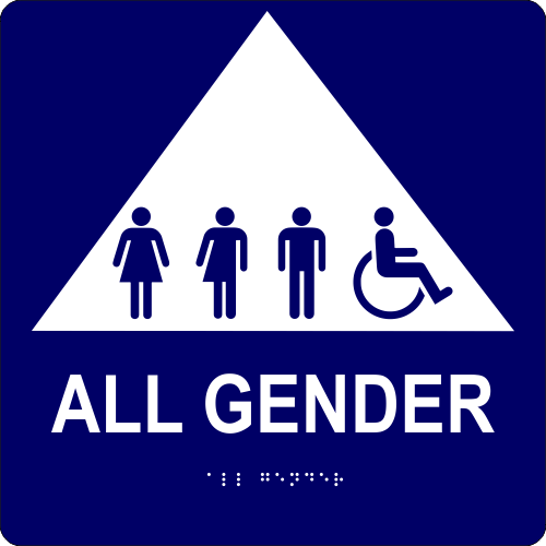 ALL GENDER Triangle with Symbols