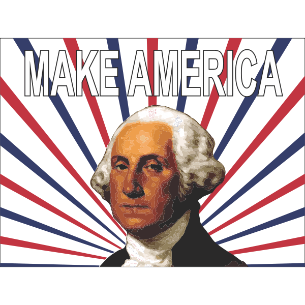 George Washington Make America Yard Sign