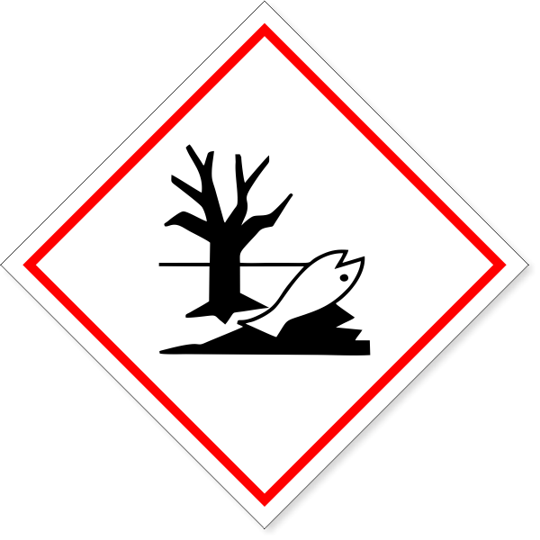 """GHS Dangerous For Environment Decal   6"""" x 6"""""""