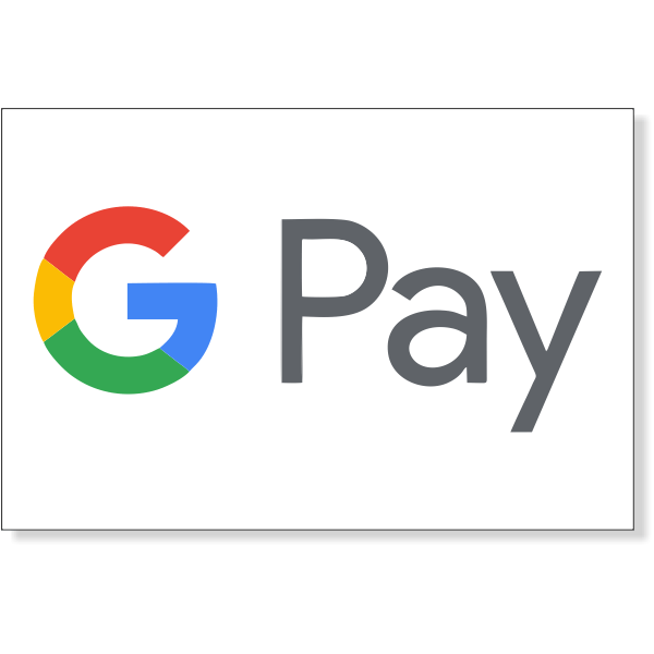 "Google Pay Decal | 2"" x 3"""