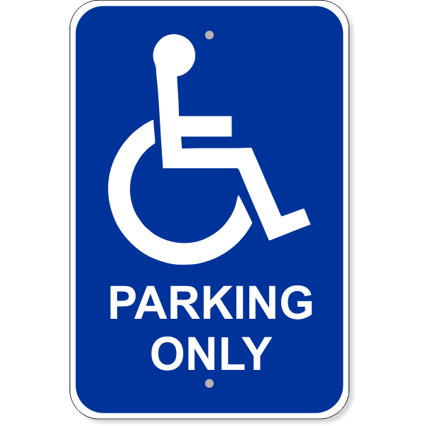 Handicap Parking Only Aluminum Sign