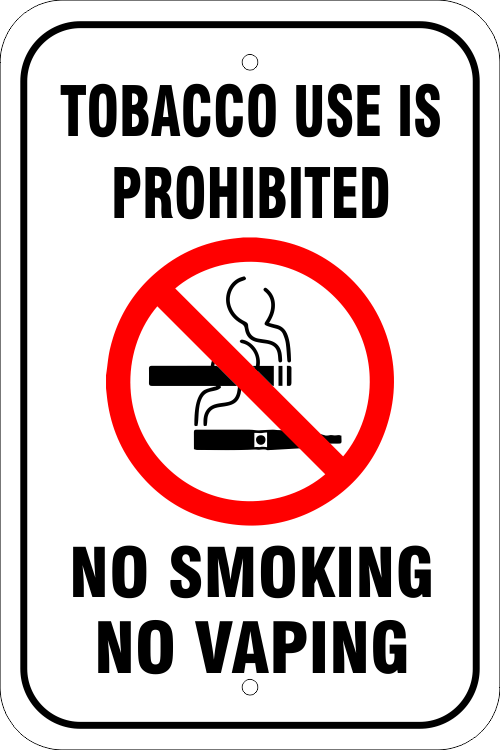 Tobacco Use Prohibited Aluminum Sign