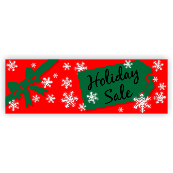 Holiday Sale Banner - 2' x 6'