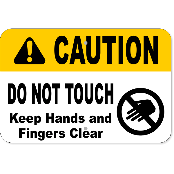 "Horizontal Keep Clear Do Not Touch Aluminum Sign | 12"" x 18"""