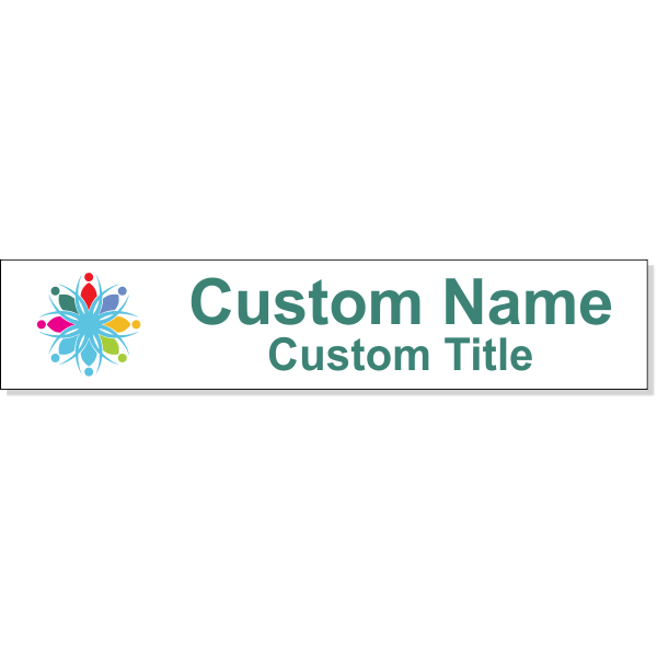Full Color Name Plate Insert for Aluminum Holder