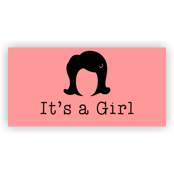 Its a Girl Wig Banner