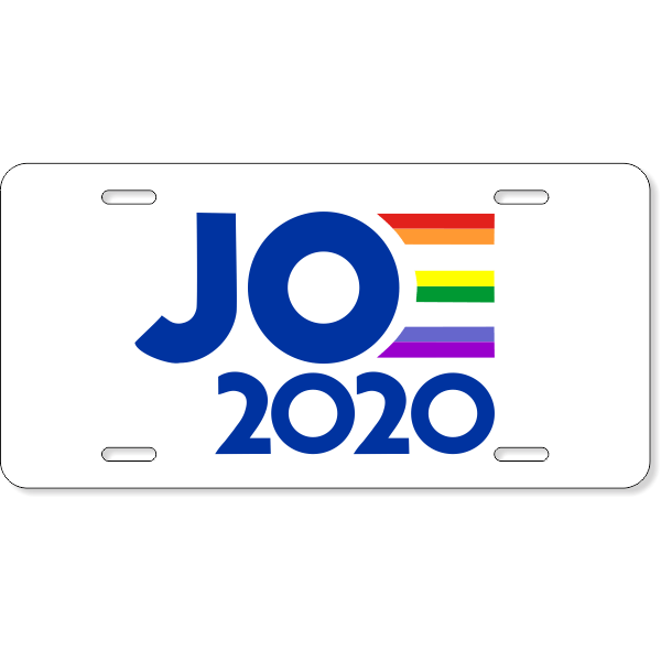 Joe 2020 Pride License Plate