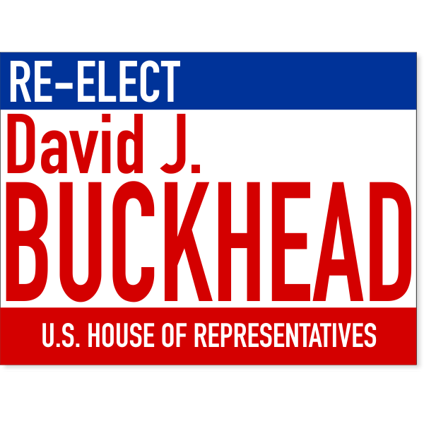 """Large Text Re-Election Yard Sign 
