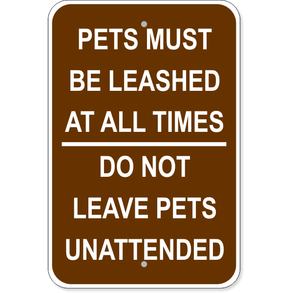 "Leashed Pets Aluminum Sign | 18"" x 12"""