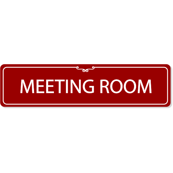 Meeting Room Decorative Sign