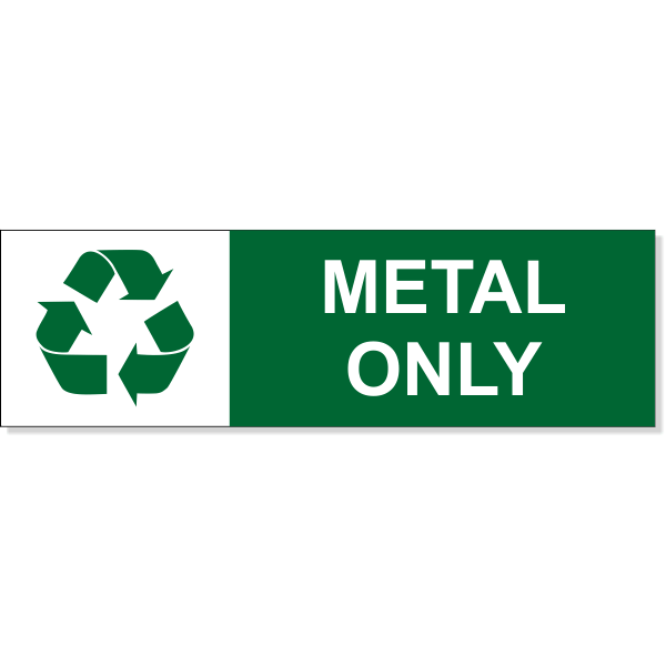 """Metal Recycle Decal 