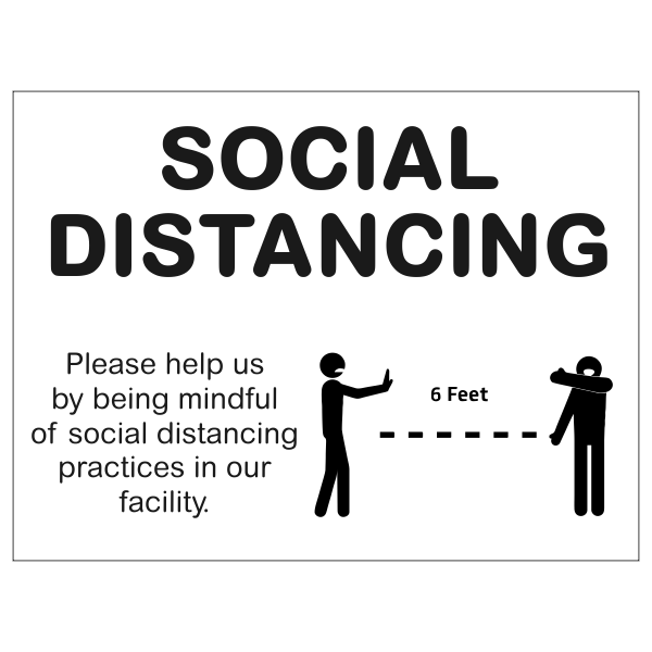 """Mindful of Social Distance Yard Sign 