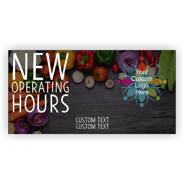 New Hours Grocery Banner