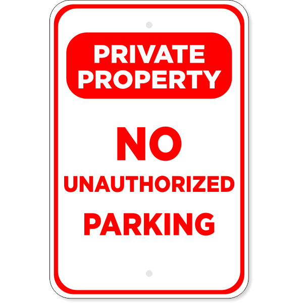 No Parking Private Property Aluminum Sign | 18