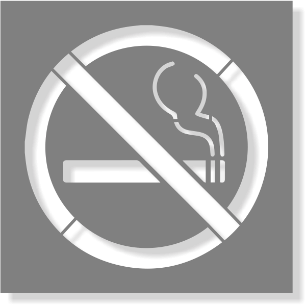 No Smoking Stencil | Multiple Sizes