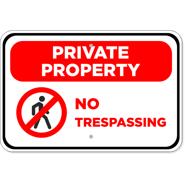 "No Trespassing Private Property Aluminum Sign | 12"" x 18"""