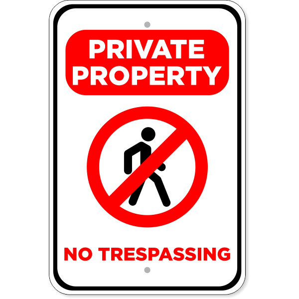 "No Trespassing Private Property Aluminum Sign | 18"" x 12"""