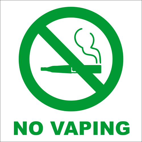 No Vaping Engraved Sign