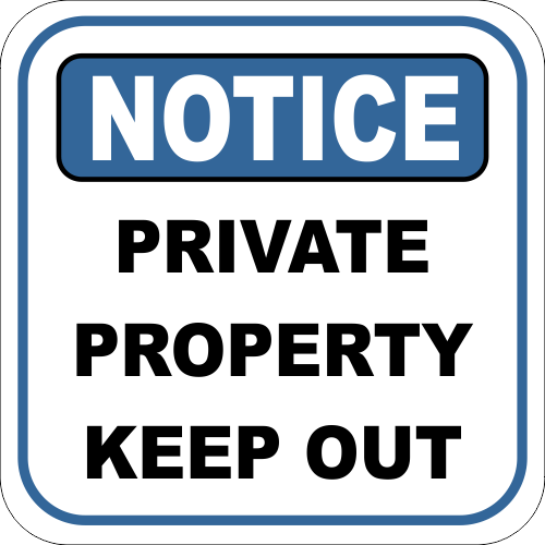 Keep Out Sign Notice Private Property Keep Out Custom