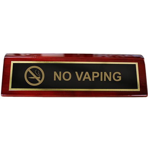 No Vaping Piano Desk Block