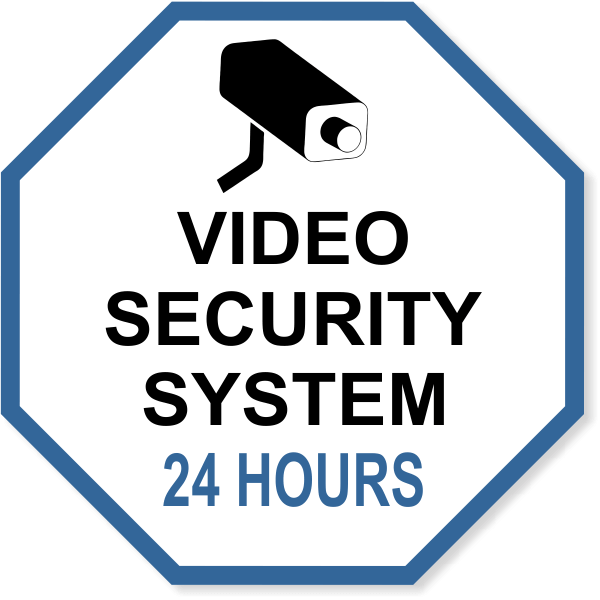 "Octagon Video Security System Vinyl Decal | 6"" x 6"""